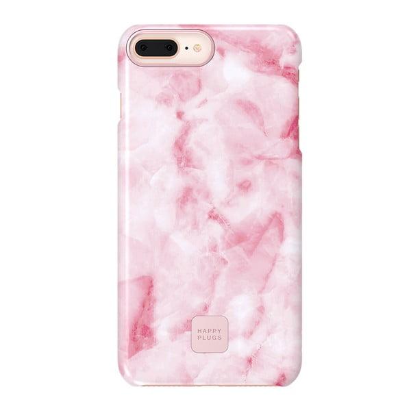 Husă protecție telefon pentru iPhone 7 și 8 Plus Happy Plugs Slim, roz - alb