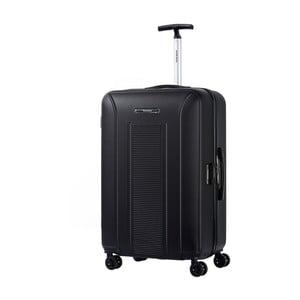 Černý kufr na kolečkách Murano, 75 x 46 cm