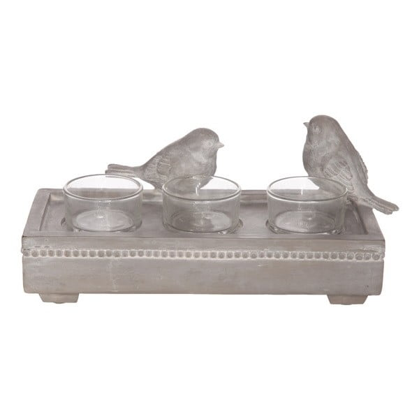 Svícen na tři čajové svíčky Birds