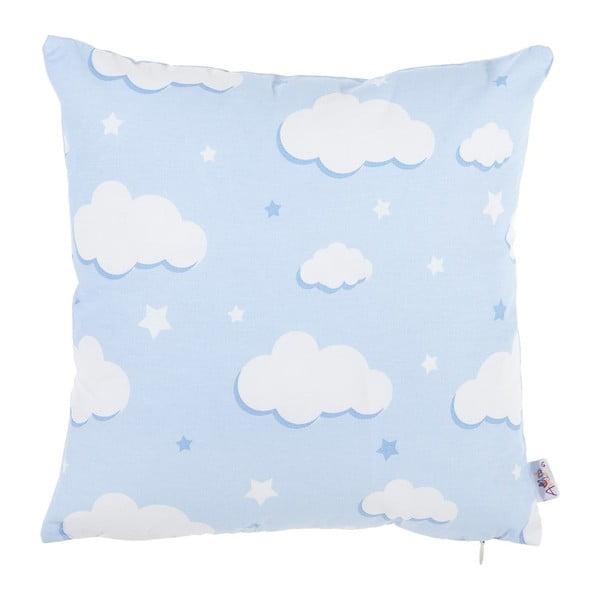 Modrý bavlněný povlak na polštář Apolena Skies, 35 x 35 cm
