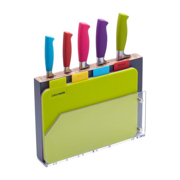 9dílná sada nožů a prkének Colourworks