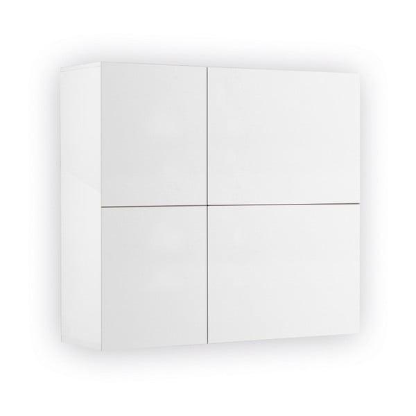 Bílá závěsná komoda se 2 dveřmi Jitona Mamma