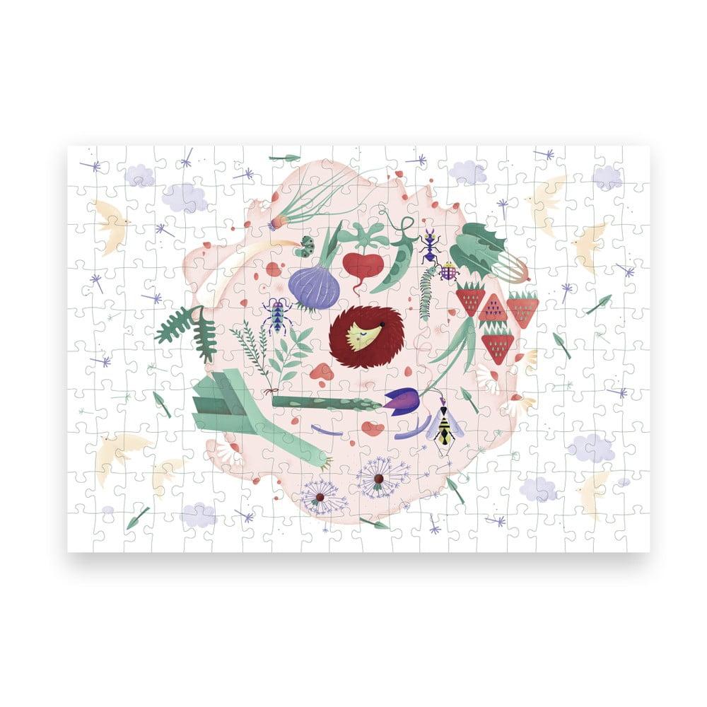 Puzzle z recyklovaných materiálů Pucle Jarná záhrada ,200 dílků