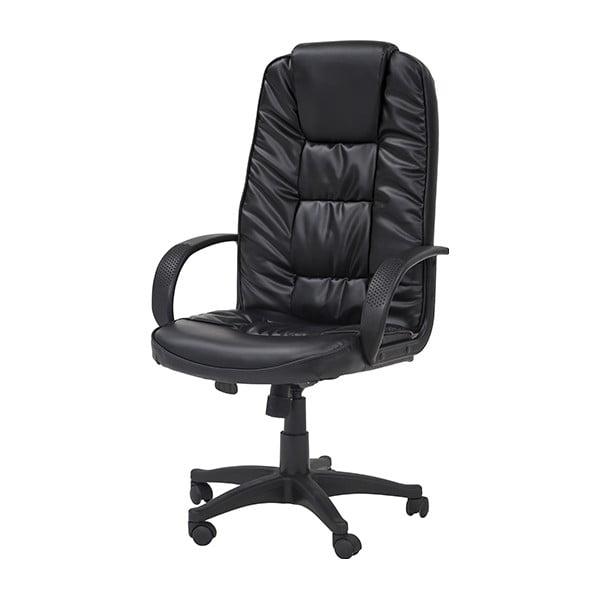 Pracovní židle na kolečkách Pres, černá