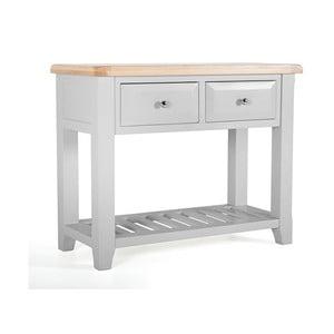 Konzolový stolek z akáciového dřeva s 2 šuplíky VIDA Living Clemence
