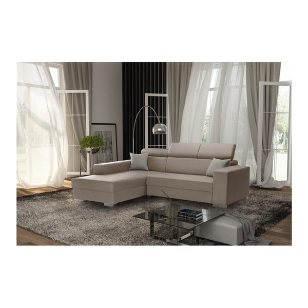 Karamelová rozkládací sedačka Interieur De Famille Paris Tresor, levý roh