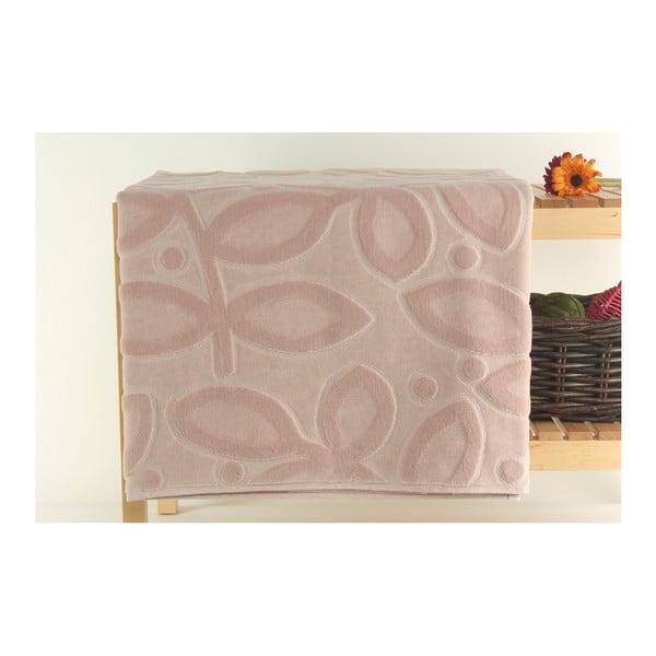 Púdrová kúpeľňová predložka zo 100% bavlneného zamatu Mat, 90x150 cm