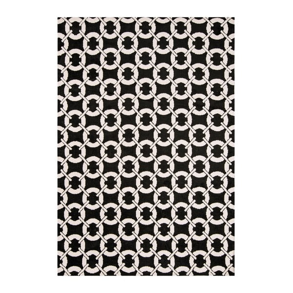 Koberec Asiatic Carpets Buckle Rug Black, 120x170 cm