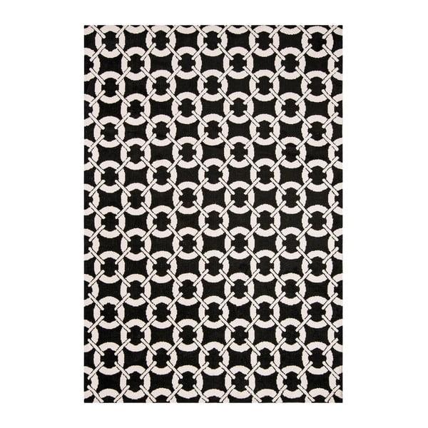 Koberec Asiatic Carpets Buckle Rug Black, 100x150 cm