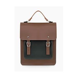 Hnědý kožený batoh Brix + Bailey Howson
