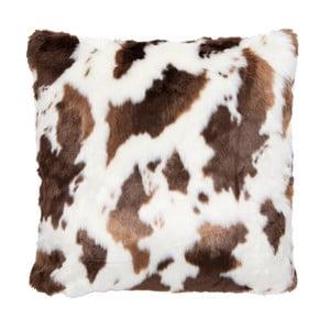 Hnědo-bílý povlak na polštář Clayre & Eef Country