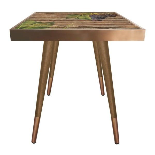 Príručný stolík Caresso Grape Square, 45 × 45 cm