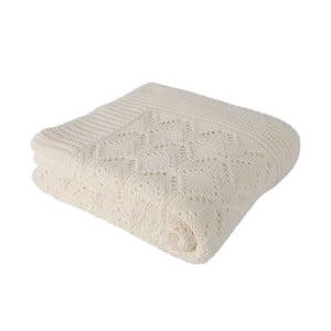 Světle béžová bavlněná deka Cotton,170x130cm