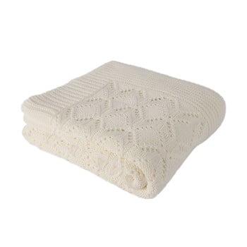 Pătură din bumbac Homemania Cotton, 170 x 130 cm, bej deschis de la Homemania
