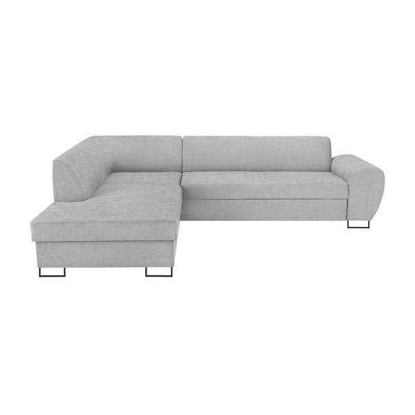 XL Left Corner Sofa Piano szürke kinyitható sarokkanapé, tárolóhellyel - Kooko Home