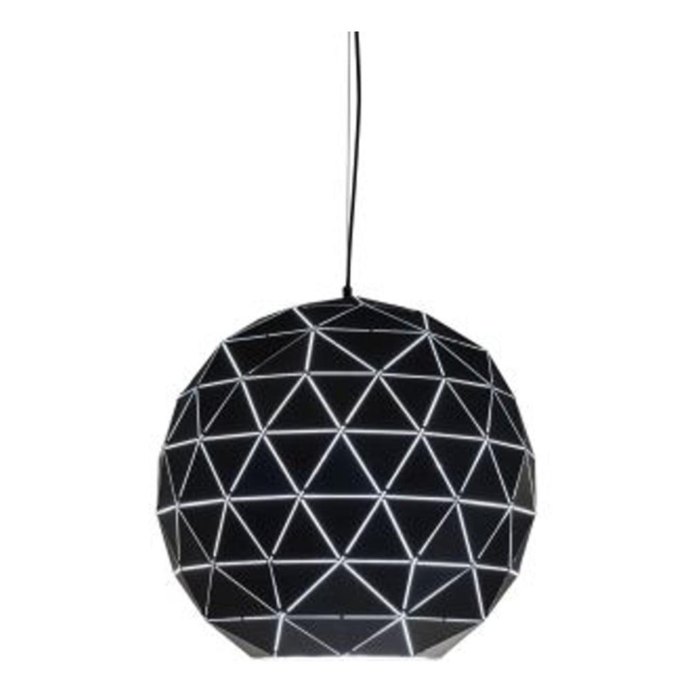 Černé stropní svítidlo Kare Design Triangle, Ø 60 cm