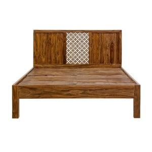 Pat dublu din lemn de palisandru Massive Home Rima, 160 x 200 cm