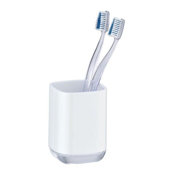 Bílý kelímek na zubní kartáčky Wenko Masone