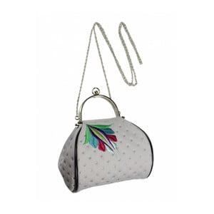 Malá kabelka s vyšíváním, světlá