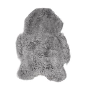 Blană de oaie cu fir scurt, 100 x 60 cm, gri