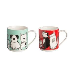 Sada 2 hrnků z porcelánu Price & Kensington Curious Pets,340ml