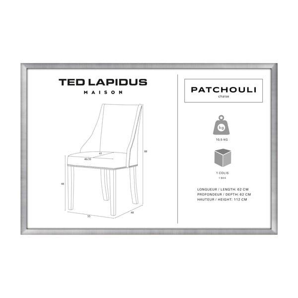 Scaun Ted Lapidus Maison Patchouli cu picioare maro închis, galben muștar