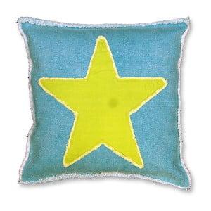 Polštář Star 45x45 cm, modrý