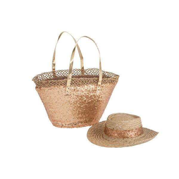 Plážová taška se slamákem Spangle Gold