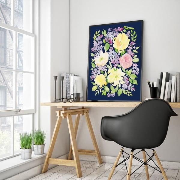 Plakát se žlutými květinami, 30 x 40 cm