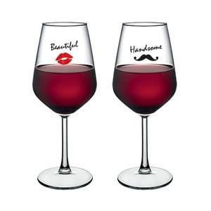 Sada 2 sklenic na víno Vivas Woman & Man, 345 cm