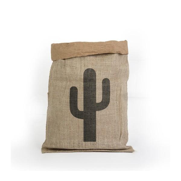 Úložný koš z recyklovaného papíru Surdic Yute Cactus