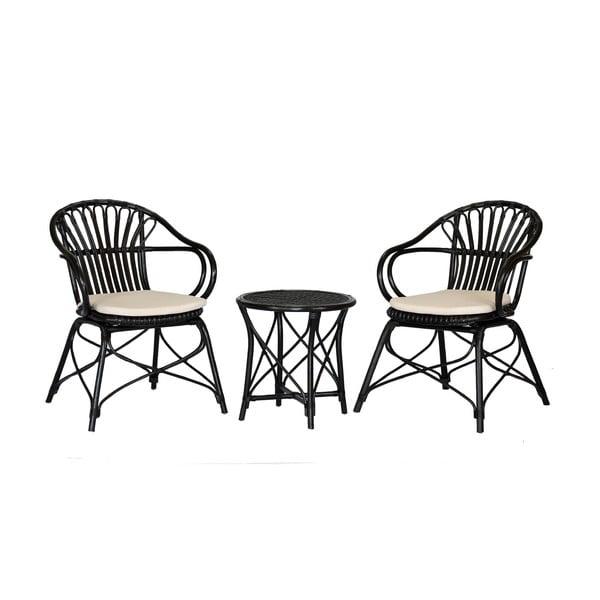 Zestaw 2 foteli rattanowych i stolika WOOX LIVING Ratta
