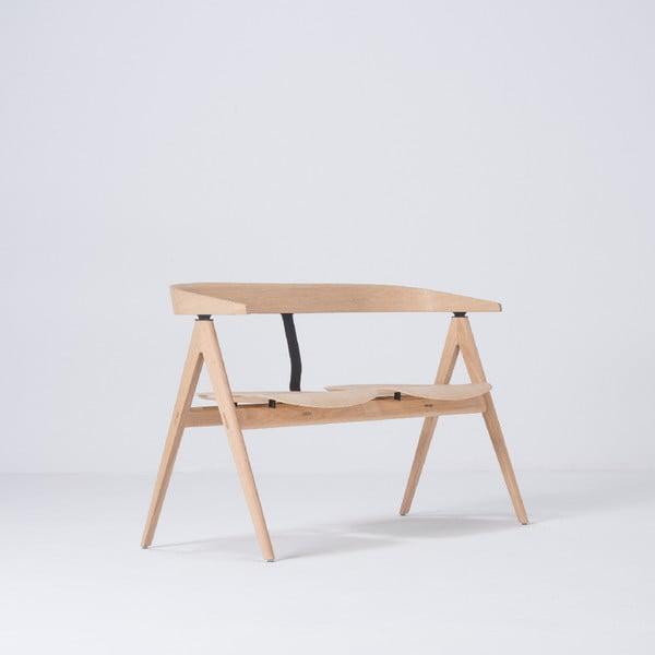 Naturalna ławka z drewna dębowego Gazzda Ava