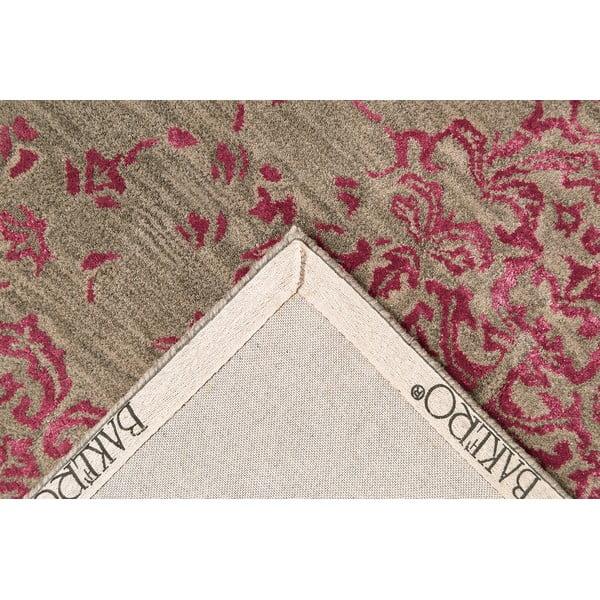 Ručně tuftovaný fialový koberec New Jersey, 153x244cm