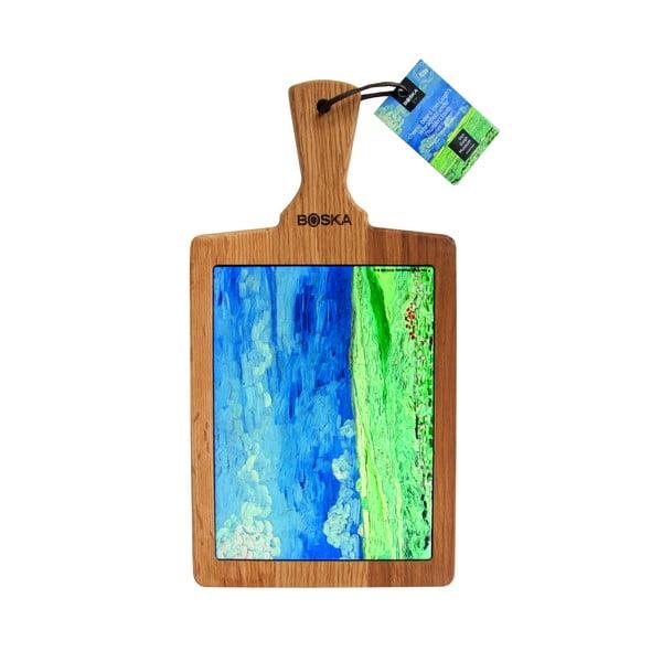 Servírovacia doštička Bosca Serving Board Van Gogh Wheatfield Under Thunderclouds, 25 x 18 cm