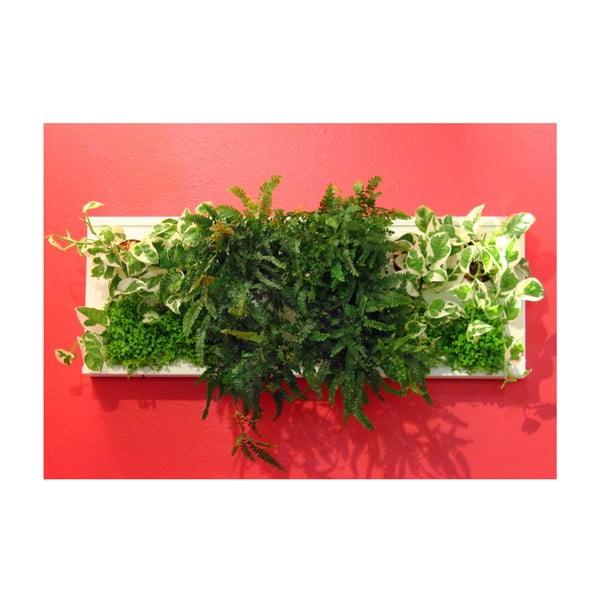 Vertikální květináč HOH! Duo Bianco, 77x28 cm