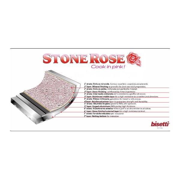 Tigaie tip grătar Bisetti Stonerose, 28 x 28 cm