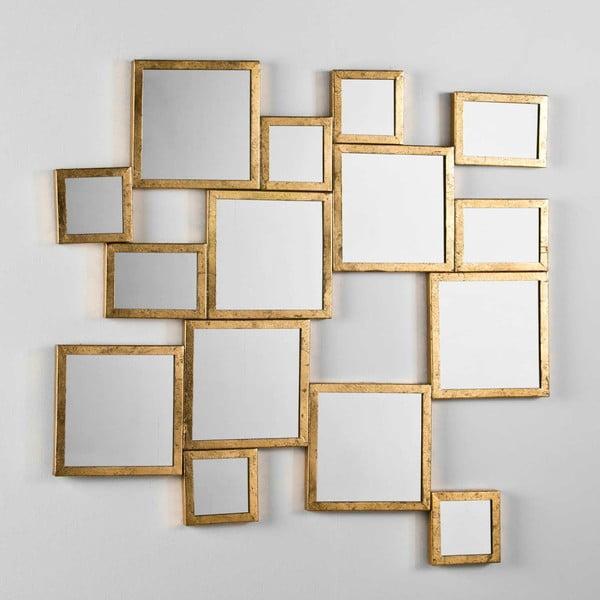 Nástěnné zrcadlo s rámem ve zlaté barvě Thai Natura, 101x90cm