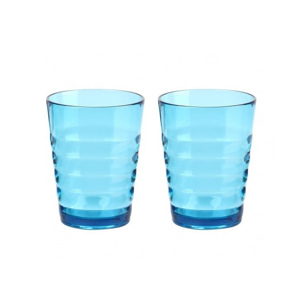 Sada modrých skleniček Contour, 2 ks