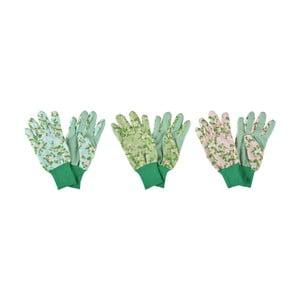 Sada 3 zahradních rukavic Esschert Design Plague Rose