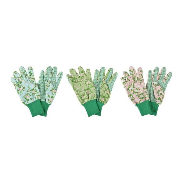 Sada 3 zahradních rukavic Ego Dekor Plague Rose
