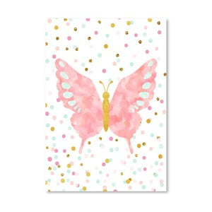 Poster Americanflat Butterfly Blush, 30 x 42 cm