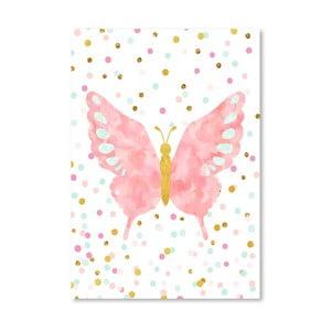 Plakát Americanflat Butterfly Blush, 30x42cm