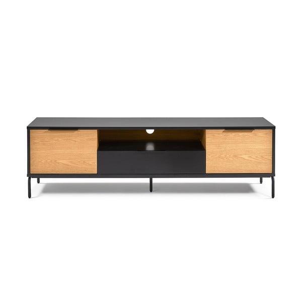 Czarno-brązowa szafka pod TV La Forma Savoi, 170x50 cm