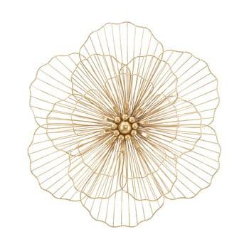 Decorațiune pentru perete Mauro Ferretti Flower Stick, 58,5x55cm, auriu imagine