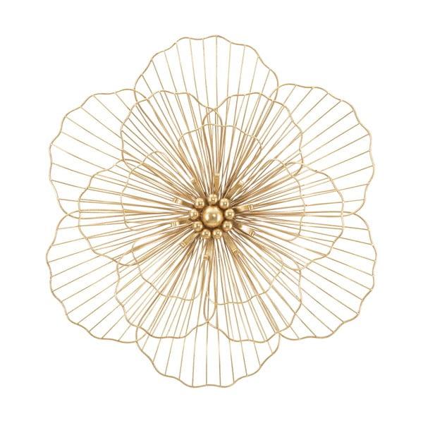 Dekoracja ścienna w złotym kolorze Mauro Ferretti Flower Stick, 58,5x55 cm