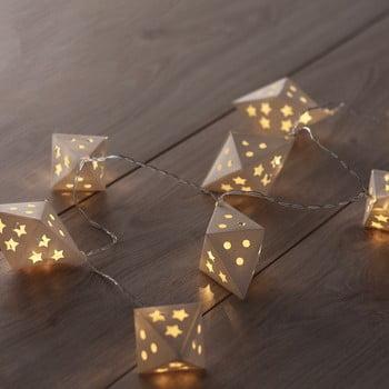Ghirlandă luminoasă cu LED DecoKing Triangles, lungime 1,65 m, 10 beculețe imagine
