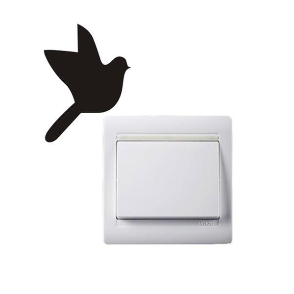 Dekorativní samolepka Bird, 9x6,6 cm