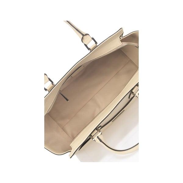 Béžová kožená kabelka Krole Kristen