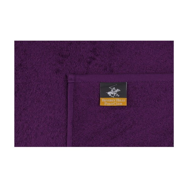 Sada 2 fialových ručníku Polo Club, 70x140cm